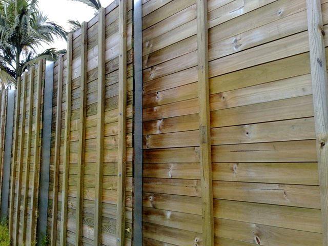 Acoustic Shiplap Fence