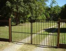 Aluminium Double Swing Gates 1800high