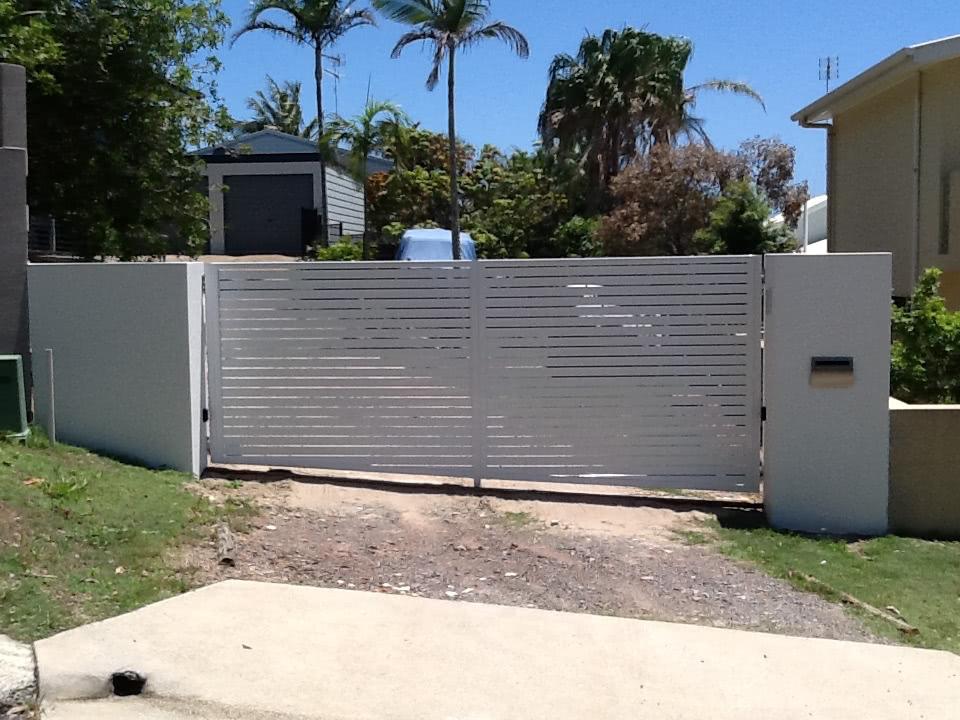 aluminium slats gate