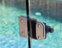 Glass Gate Pull Catch