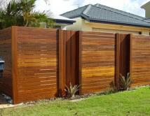 Horizontal Balau timber with Vertical Recessed Bays Oiled