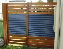 Zincalume Mountain Blue and Balau Single Access Gate
