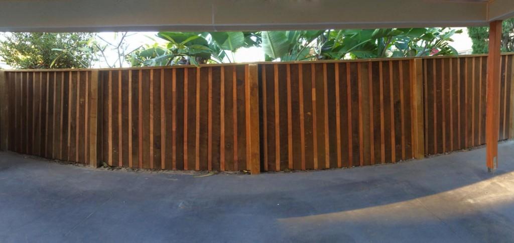 Hardwood Paling Fence Merbau Insert