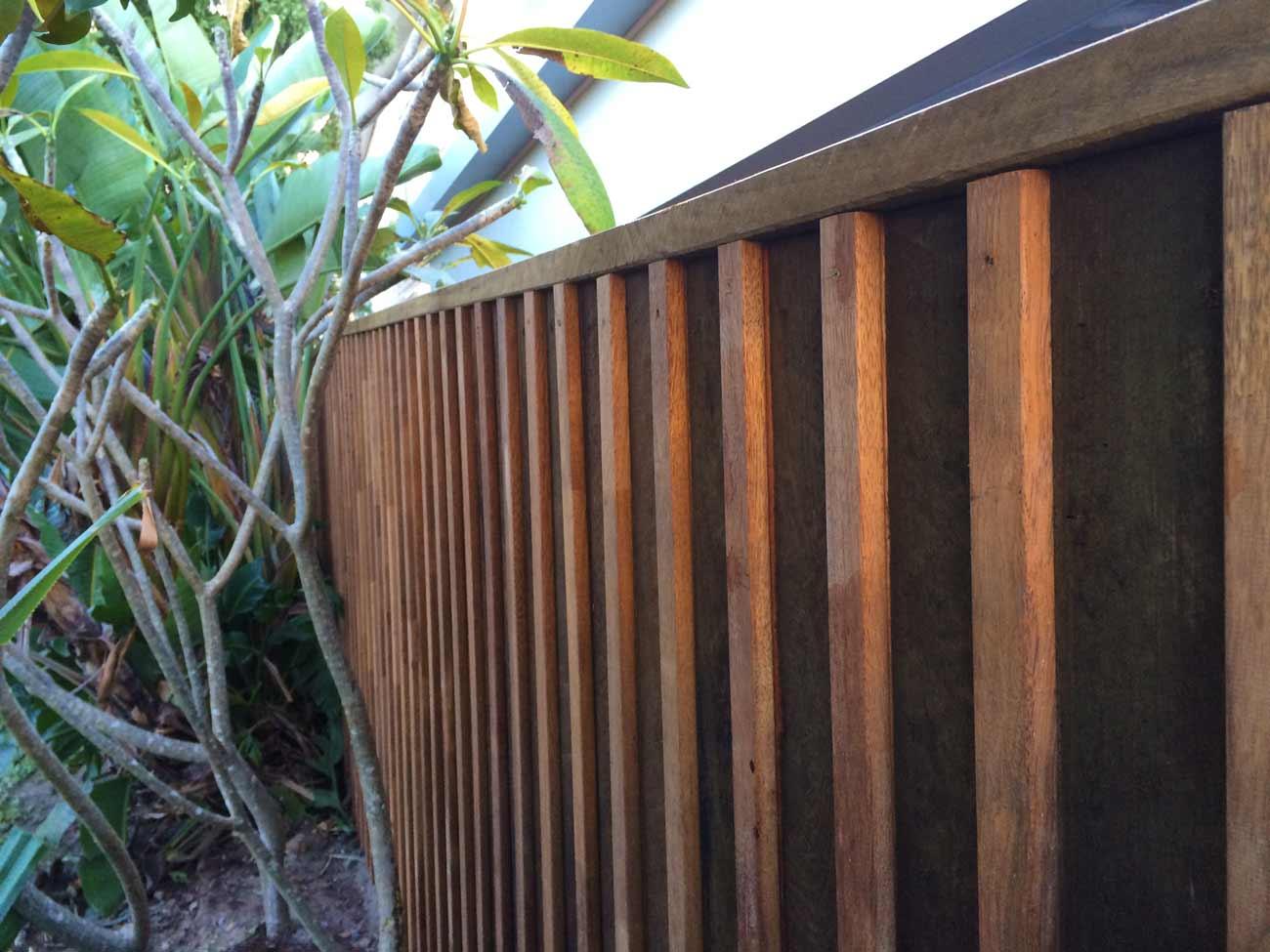 Gold coast fencescape fencing hardwood paling merbau insert fence workwithnaturefo