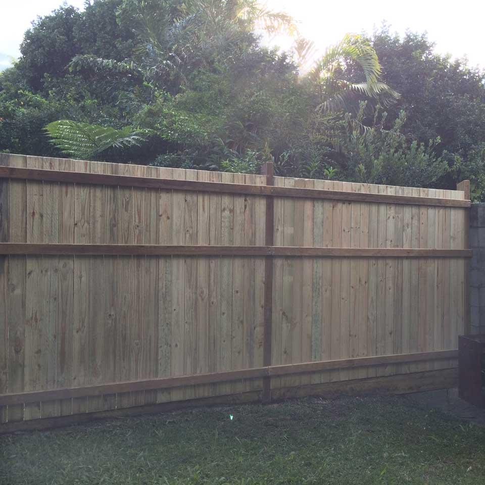 Timber Dividing Fence Gold Coast
