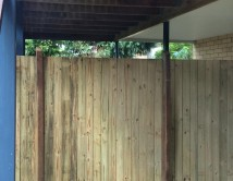 Timber Dividing Fence Gold Coast